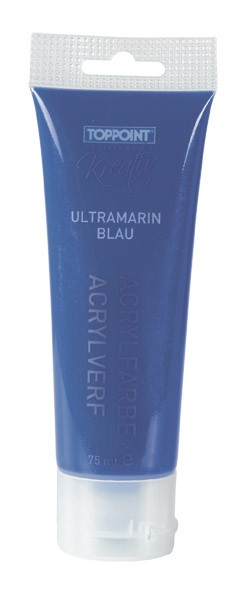 Toppoint Acrylfarbe, matt, 75 ml, Ultramarinblau