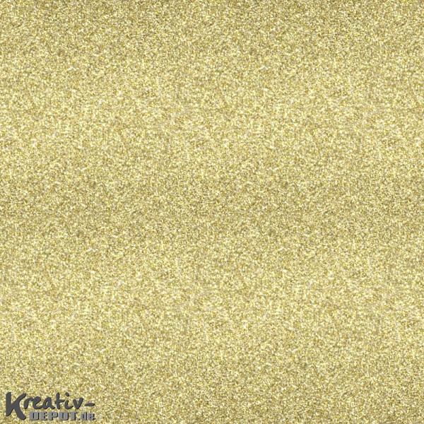 Glitterfolie selbstklebend - 50 x 70cm Rolle, gold