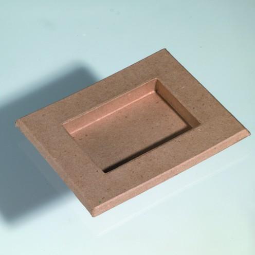 Bilderrahmen, aus Pappmachè, 18,5 x 15 cm / 11,5 x 8 cm