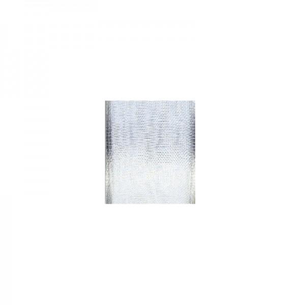 Chiffonband mit Drahtkante, 25mm breit, 5m lang - weiß