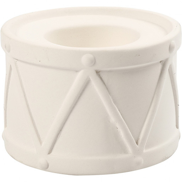Kerzenständer - Set, aus Terrakotta, 2Stck., weiß