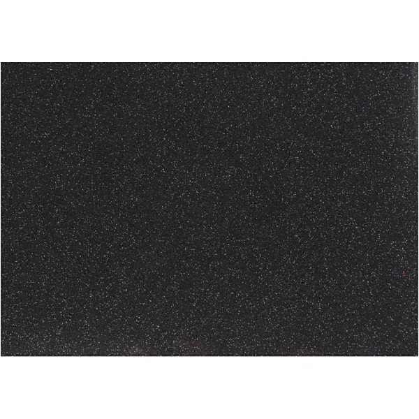Glitter-Bügelfolie, A5 14,8x21 cm, schwarz