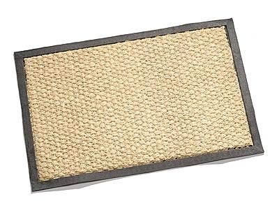 Carpet Color Kokos Matte gewebt, 40x60cm, gebleicht mit schwarze
