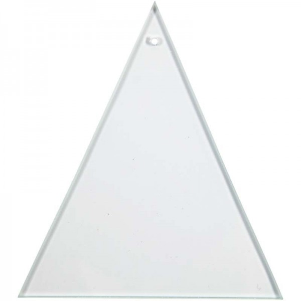 Glasplatte Dreieck, 8 x 9 cm