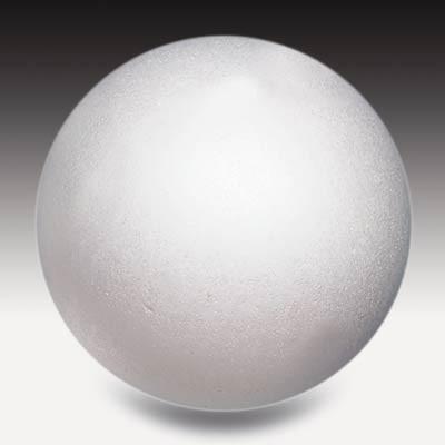 Styroporkugel, 10 cm Ø, weiß, einteilig massiv