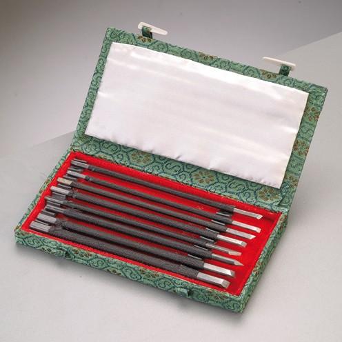 Specksteinmeißel-Set, 8-teilig, 15 cm