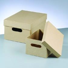 Boxen-Set Stapelbox, aus Pappmaché, 2-teilig