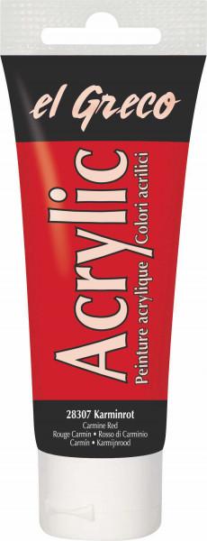 Acrylfarbe el Greco Acrylic, 75 ml - Karminrot