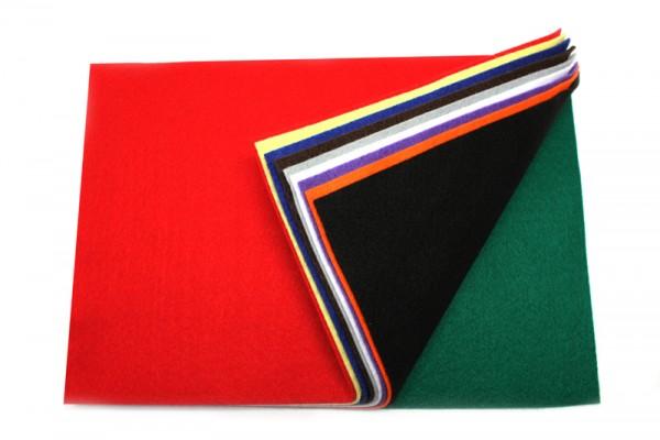 Bastelfilz, 10 Bogen, 2mm, 45x70cm, farbig sortiert