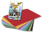 Tonpapierblock, DIN A4, 20 Blatt, 10-farbig