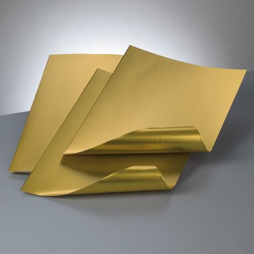 Alu-Metallfolie, 20 x 30cm, 3 Bogen, gold/gold