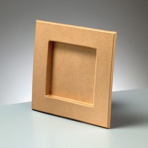 Rahmen, aus Pappmachè, 26,5 x 26,5 cm / 16,5 x 16,5 cm