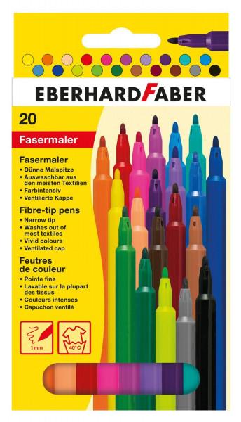 Eberhard Faber Fasermaler, 20er Kartonetui