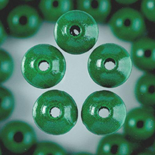 Holzperlen 14mm, 18 Stück - grün