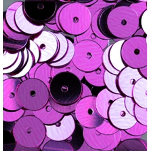 Pailletten, rund, flach, 6 mm, 4000 St, rosa