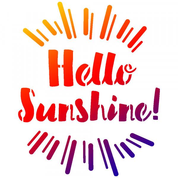 Viva Decor Universal-Schablone, DIN A5, Hello Sunshine