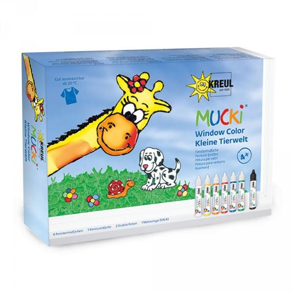 Mucki Window Color Pen Set, Kleine Tierwelt