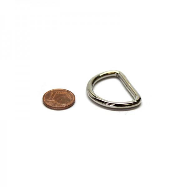 D-Ring 25 x 18 x 3,4mm Stahl, Silbern vernickelt