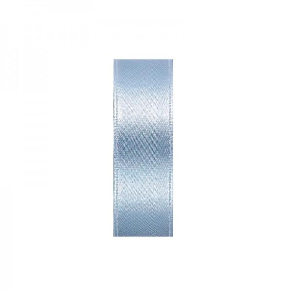 Satinband, doppelseitig, Länge 5 m, Breite 15 mm, altblau