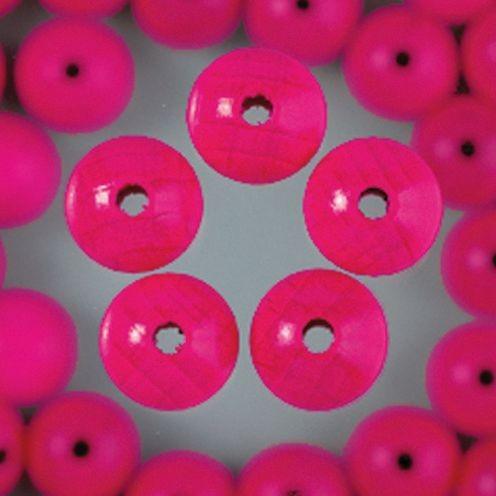 Holzperlen 6mm, 110 Stück - pink
