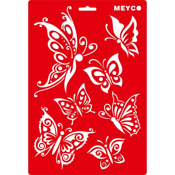 Motiv-Schablone Schmetterlinge