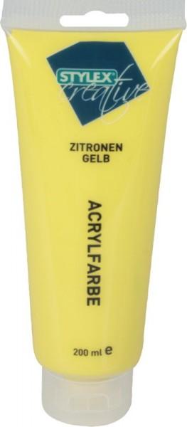 Toppoint Acrylfarbe, 200 ml - Zitronengelb