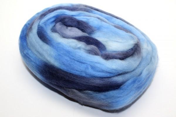Merino-Filzwolle, Kammzug, 66 g, blautöne