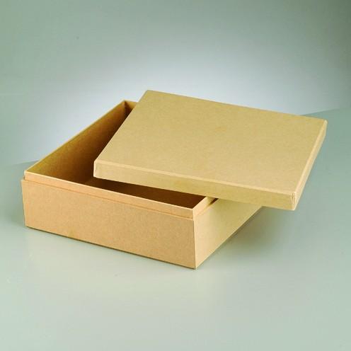 Box für Servietten, aus Pappmaché, 22 x 22 x 8 cm