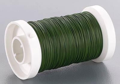 Wickeldraht, Blumendraht, 0,35 mm Ø, 100m, moosgrün
