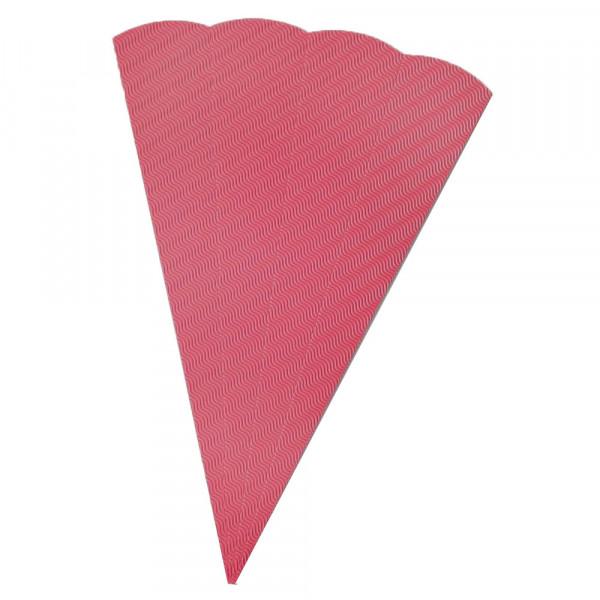 Schultüten Rohling W-Welle, 20 x 68 cm, Pink