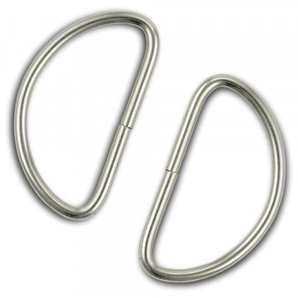Metallhalbring, 24 x 40mm, 4 Stück, silberfarbig