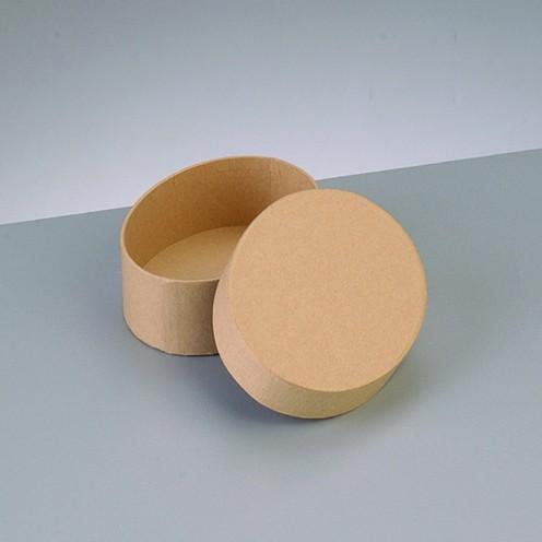 Box Oval, aus Pappmaché, 8,5 x 6,5 x 5 cm