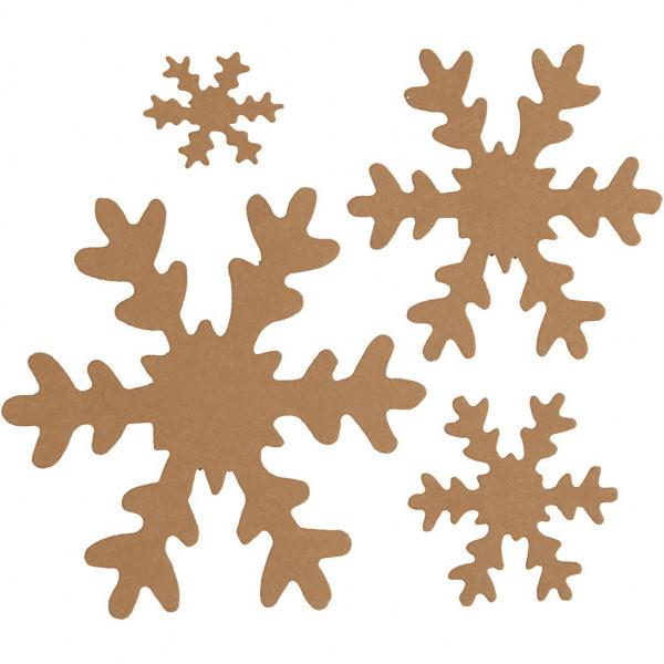 Schneeflocken-Sort. natur, aus Lederpapier