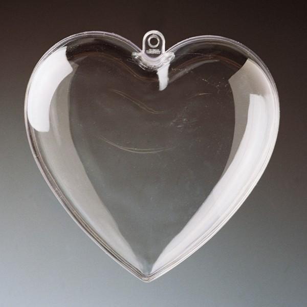 Teilbare Acrylformen: Herz, 10 cm