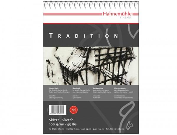 Skizzenpapier Tradition 100 g/m², 30x42cm, 50 Blatt