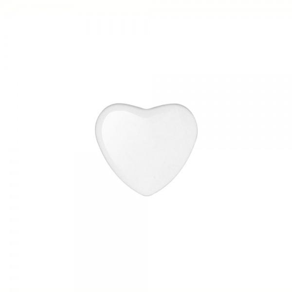 6 x Cabochon Glassteine, herzform 25x27mm
