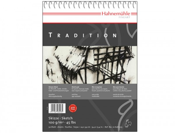 Skizzenpapier Tradition, 100 g/m², 24x34cm, 50 Blatt