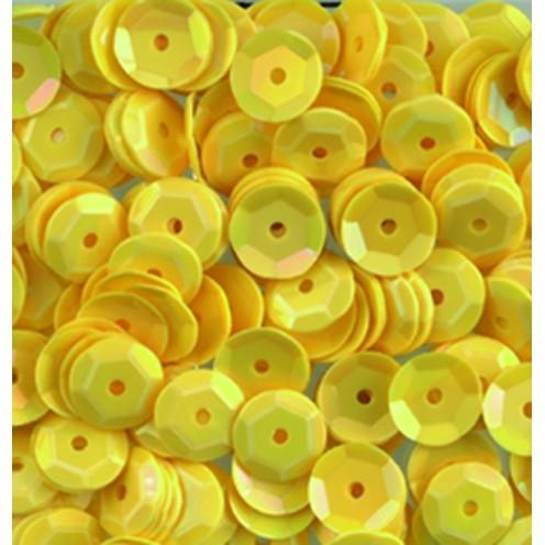 Pailletten, rund, gewölbt, 6 mm, 4000 St, gelb