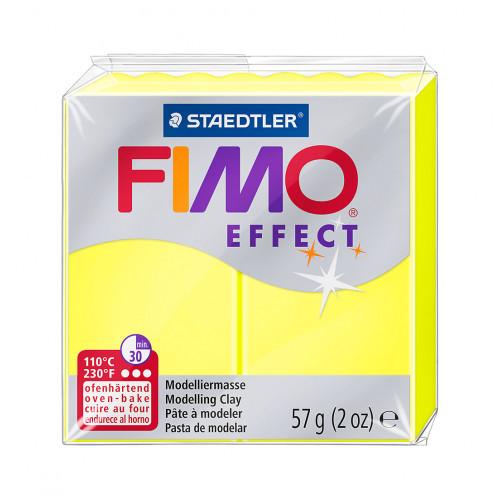 FIMO effect, Modelliermasse, 57 g, Neon Gelb