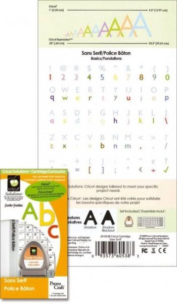 Cricut Cartridge (Einsatzmodul) Sans Serif
