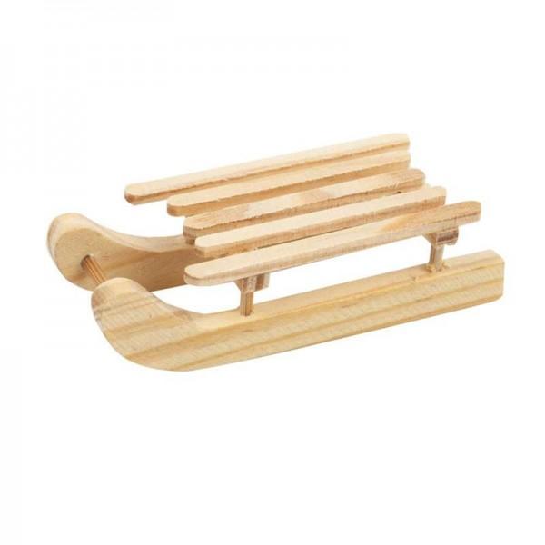 Schlitten, aus Holz, 6,5 x 2,5 cm, 6 Stück