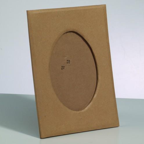 Bilderrahmen, aus Pappmachè, ovaler Ausschnitt, 20 x 14,5 cm