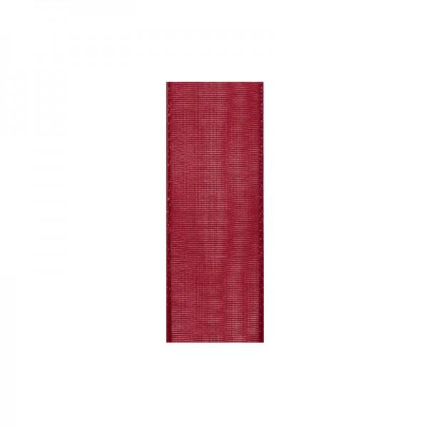 Chiffonband, 6mm breit, 10m lang - weinrot