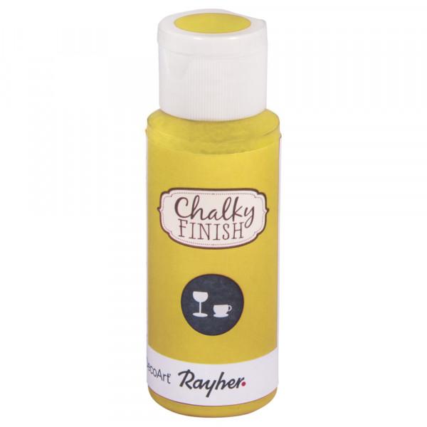 Chalky-Finish Kreidefarbe für Glas 59 ml - lichtgelb
