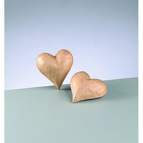 3D-Element Herz, aus Pappmachè, 9 x 8,5 x 2,5 cm