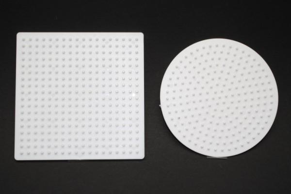 Photo Pearls® Legeplatte, 9 cm, 1 x Rund, 1 x Quadrat