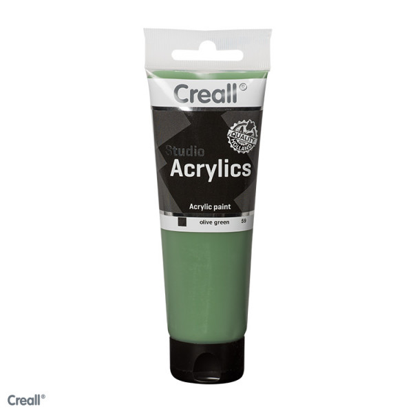 Creall-studio Acrylfarbe, 120 ml, Olivgrün