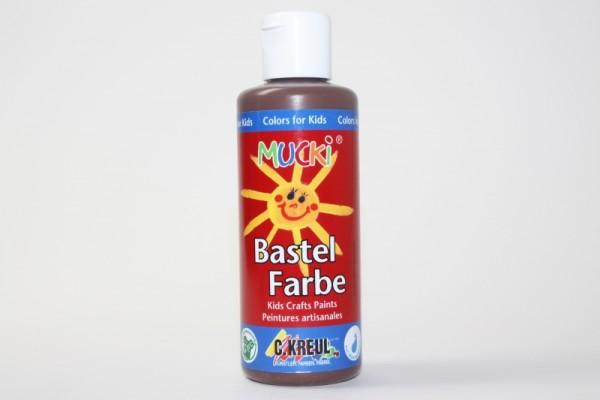 Mucki Bastelfarbe, 80 ml, Braun