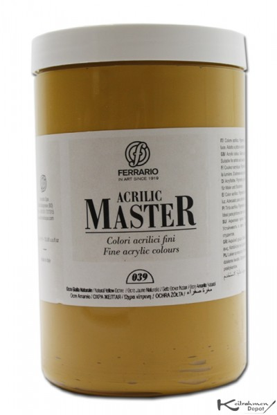 Ferrario Acrilic Master Acrylfarbe, 1000 ml, Siena natur