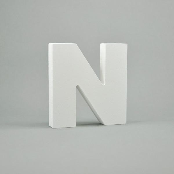 """MDF- Buchstaben """"N"""", weiß"""